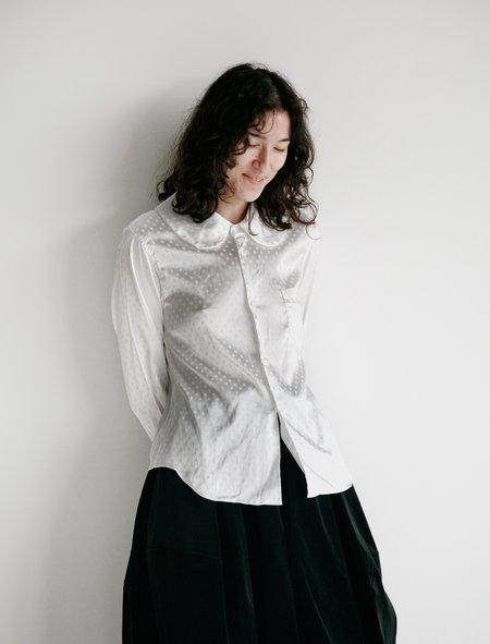 Comme des Garçons Polka Dot Jacquard Shirt - White