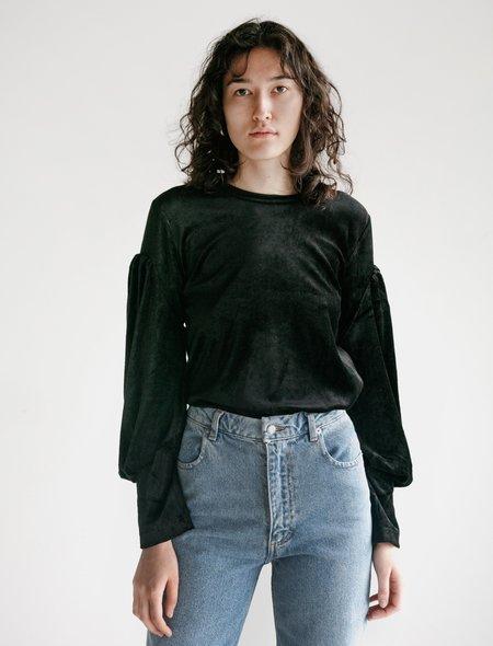 Comme des Garçons Velour Puff Sleeve T-Shirt