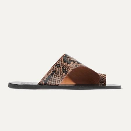 ATP Atelier Rosa Cutout Snake Effect Leather Sandals