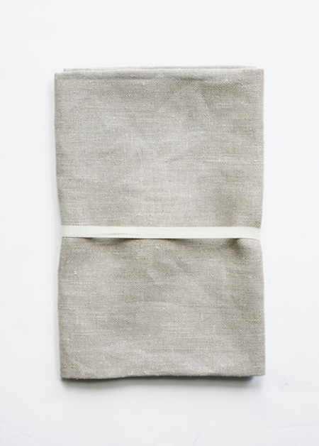 Le Fil Rouge - Bath Sheet in Natural Herringbone Weave