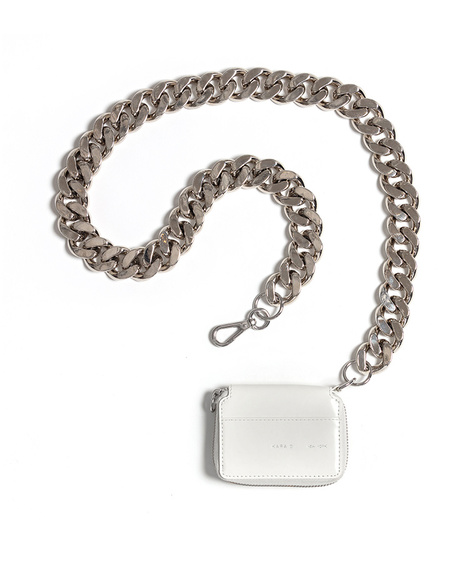 KARA Bike Wallet with chain in White