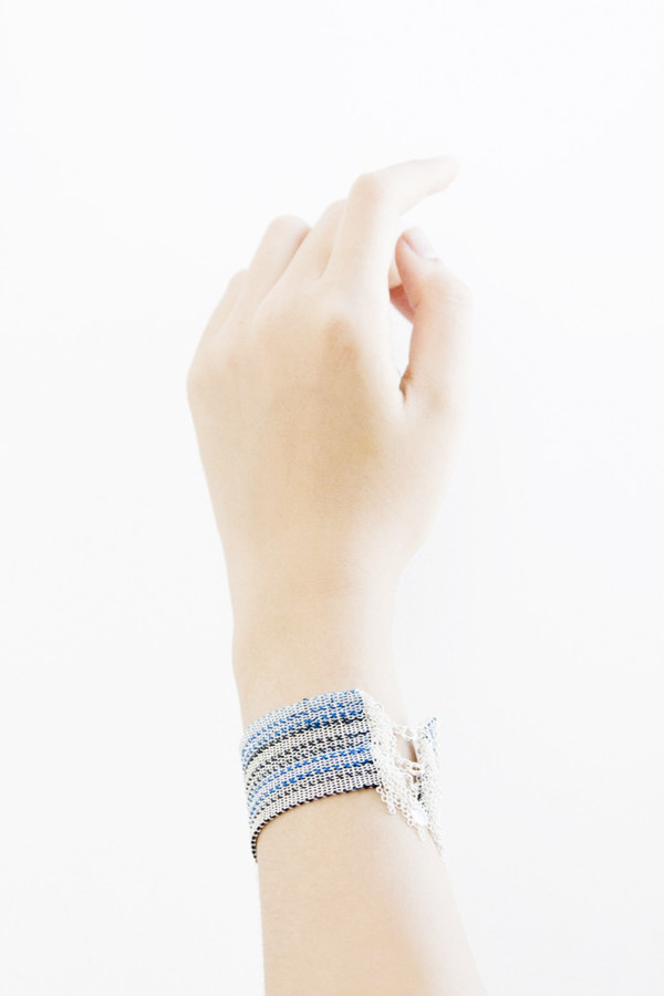 17 by Stephanie Schneider Wide Woven Bracelet