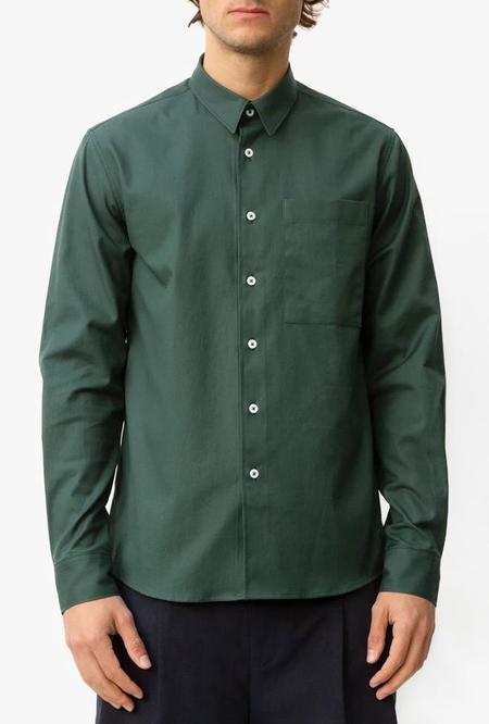 Coltesse Classic Fit Pocket Shirt - Dark Green