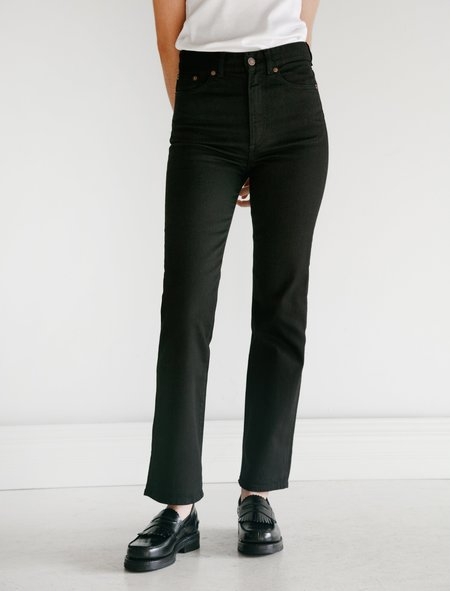 Jeanerica EW004 Super High Straight Denim - Stay Black