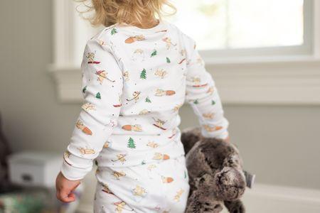 Kids SAMMY + NAT Two-Piece Pajama Set - Winter Dog