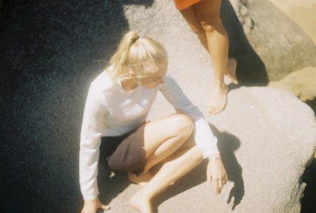 Annie Hamilton LONG SLEEVE TEE - CREAM