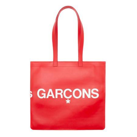 COMME des GARCONS Huge Logo Leather Tote - Red