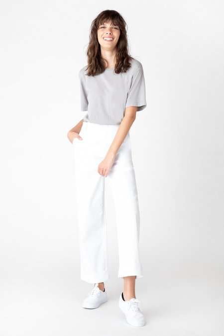 J Brand Ebbe Wide Leg Trouser - white