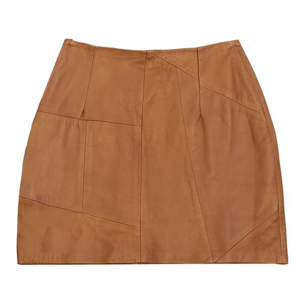 Geometric Patchwork Mini Skirt
