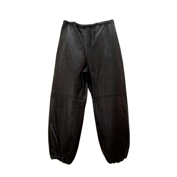 Leather Sweatpants in Cognac
