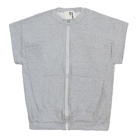 Slow and Steady Wins the Race Zipper Vest - Grey Heather
