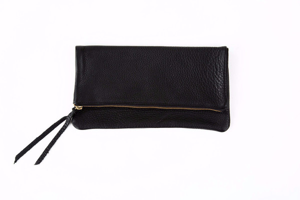 Oliveve Anastasia In Black Pebbled Cow Leather