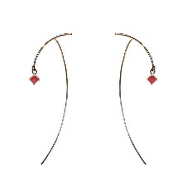 "Tara 4779 ARC ""Stabile"" Earrings - Ruby"