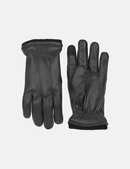 Hestra John Hairsheep Leather Gloves - Black