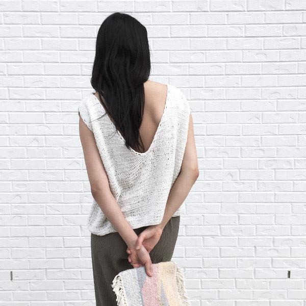 Rue Stiic - Crochet V Back Top