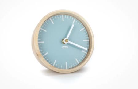 Tait Design Co. Glacier solid maple and aluminum desk clock