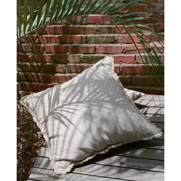 Erica Tanov fringed euro throw pillow