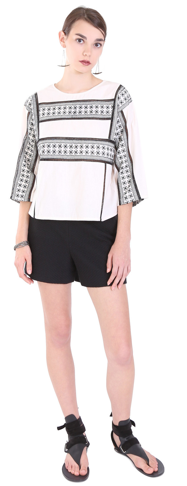 Hoss Intropia Embroidered Crop Top