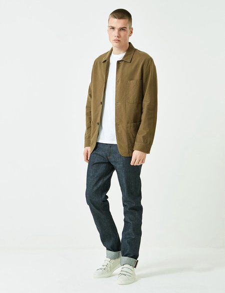Portuguese Flannel Pinheiro Jacket - Olive Green