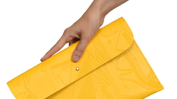 Danielle Wright Yellow Clutch