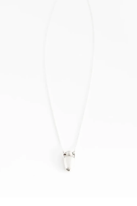 Another Feather Vase Necklace - Silver