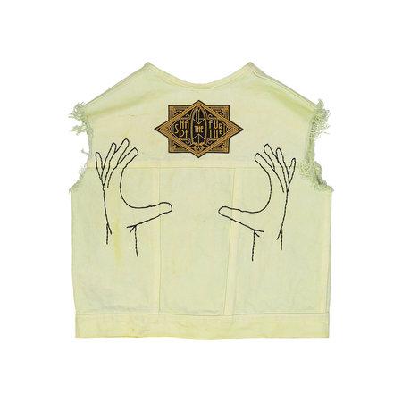 Kids Petit Mioche Organic Embroidered Denim Vest