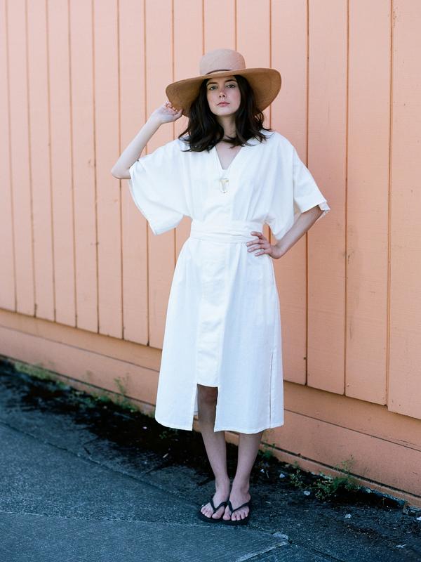 Audrey Brown Kaftan Dress