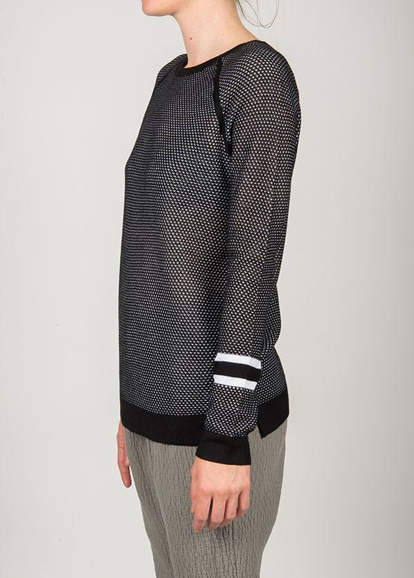 Rag & Bone - Martina Striped Pullover in Black