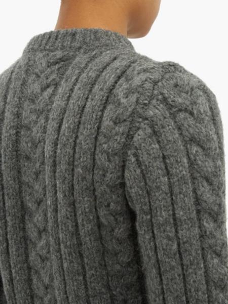 GANNI Cable Knit Sweater - Paloma Melange