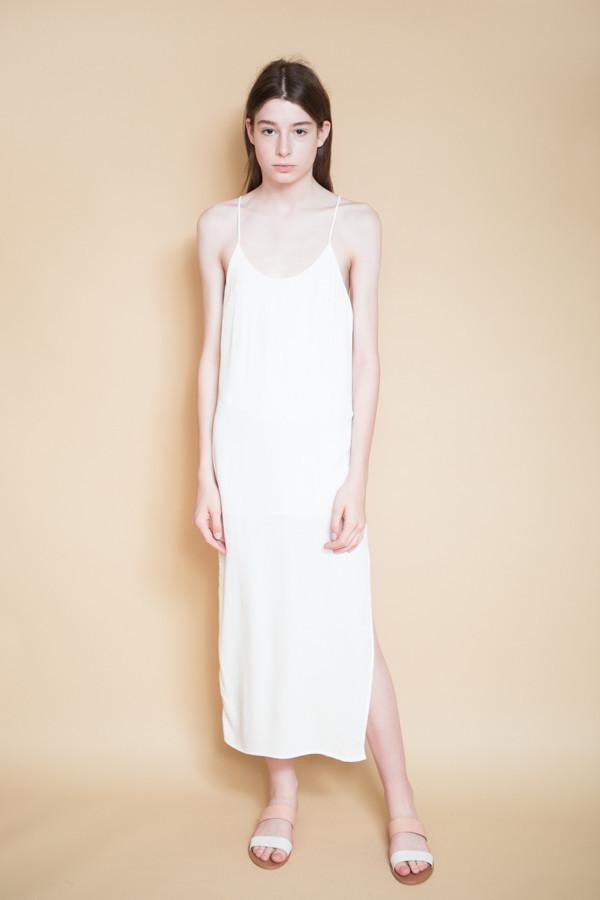BLQ Basiq Tank Midi Dress / White