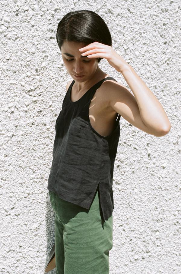 Ilana Kohn Roxey Tank - Faded Black