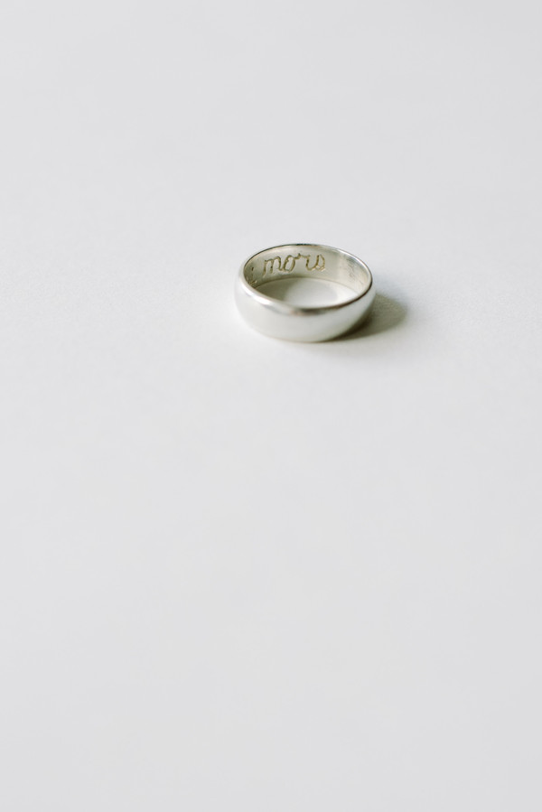 L. SHOFF Sterling Silver Poesy Ring