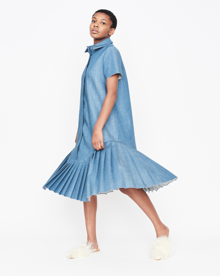 William Okpo Palette Dress Denimed