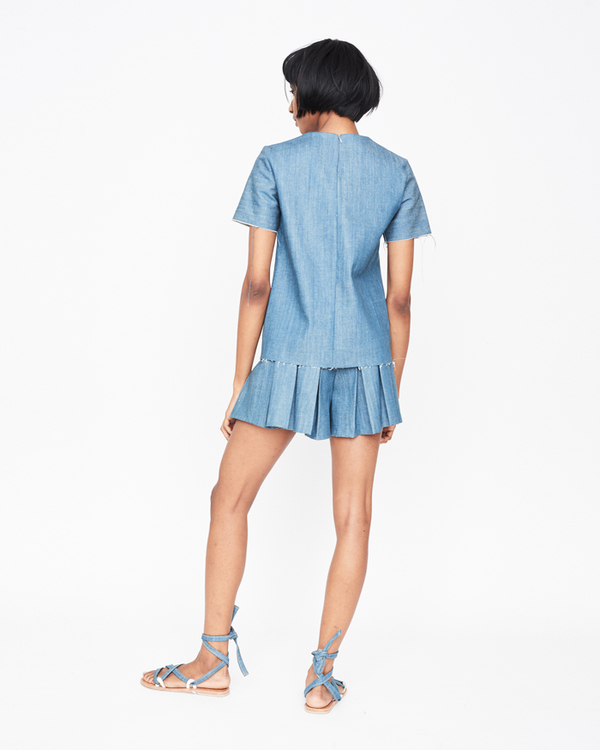 William Okpo Serena Tennis Shorts denimed