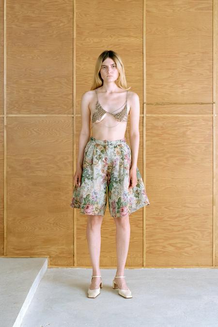 Polyhedron Gobelin shorts - flower