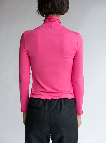 No.6 Rumi Turtleneck - Pink Knit Jersey