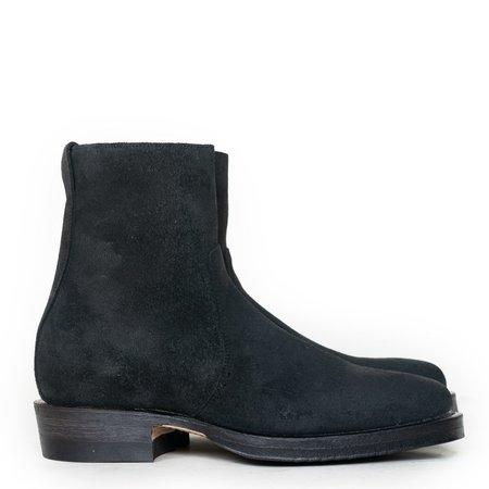 Viberg Chamois Roughout Sidezip Boot - Charcoal