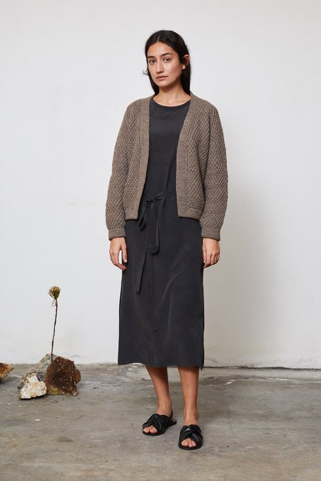 OUND HAND KNITTED SAUCO WOOL CARDIGAN - CUB