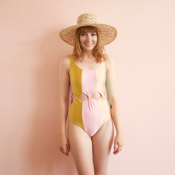 Tabernacle bathing suit - rainbow