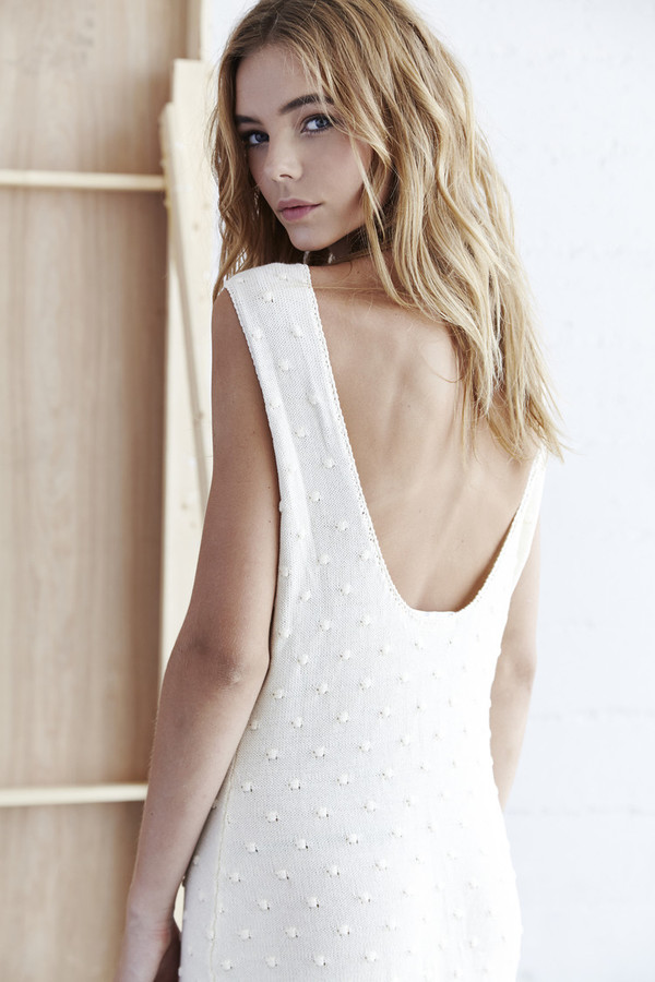 Callahan Nubby Low Back Dress
