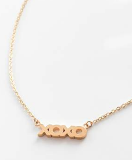 Thatch XOXO Script Necklace - 14k gold plated