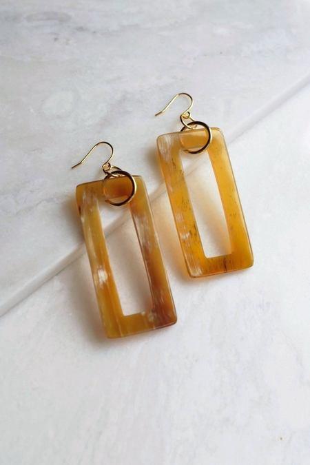 Hathorway Hue Earrings - Honey