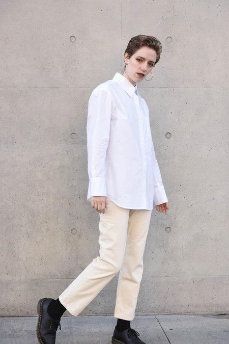 Unisex Delancey Genderless Poplin Shirt - White