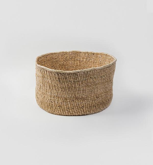 Indego Africa Banana Leaf Floor Basket