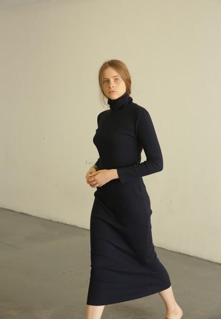 Delfina Balda Bc Turtle Ribbed Dress - Navy