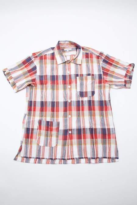 Engineered Garments Camp Cotton Crepe Check Shirt - Red/White