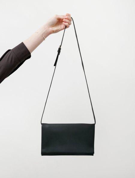 Isaac Reina Pleats Clutch with Belt - Medium Black