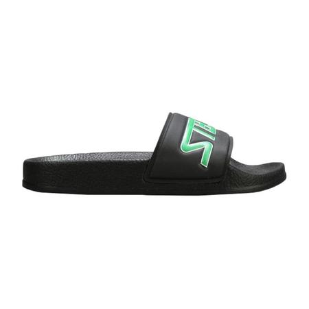kids Stella McCartney Child Logo Slider Sandals - Black