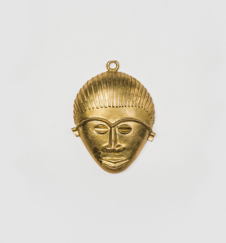 Indego Africa Handmade Brass Mask Decor
