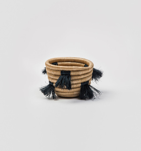 Indego Africa Mini Eyelash Fringe Basket
